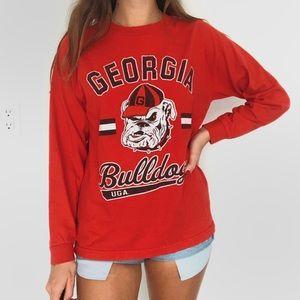 Georgia bulldogs long sleeve tee
